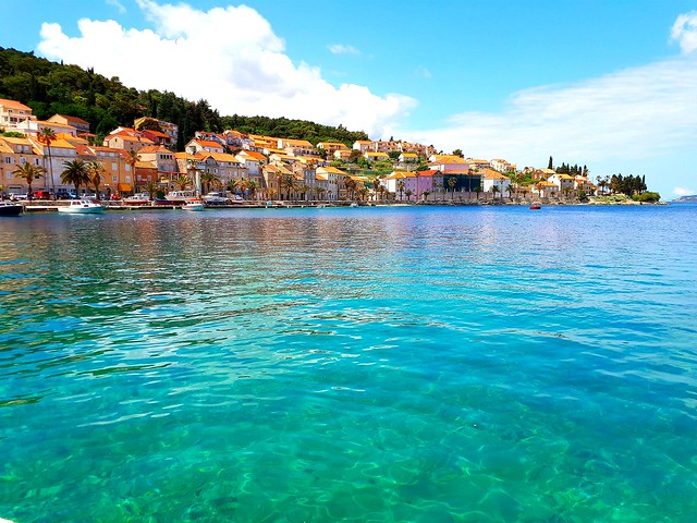 Korcula Island Harbour, Croatia.  (Mobile phone shot)