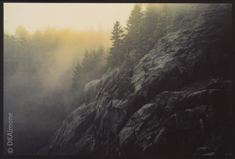 Monhegan Cliffside in Fog