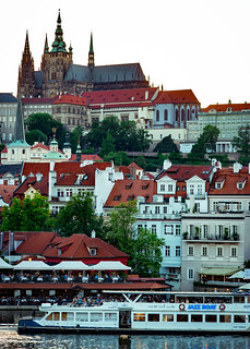 Prague Castle from Charles Bridge | by nan palmero