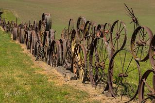 The Dahmen barn and wagon wheel fence, 2 | by RWShea Photography