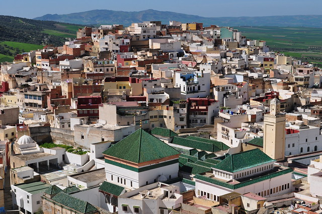 La ville sainte de Moulay Idriss Zerhoun, province de Meknès, Maroc.