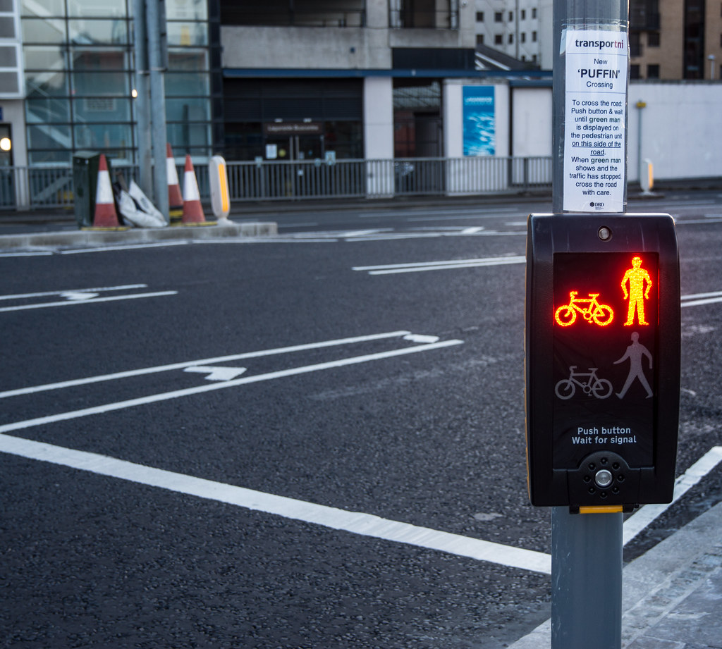 PUFFIN CROSSING IN BELFAST [ A NEW TYPE OF PEDESTRIAN CROS… | Flickr