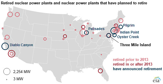 Retired Nuclear Power Plants And Nuclear Power Plants That Flickr - Map-of-nuclear-plants-in-the-us