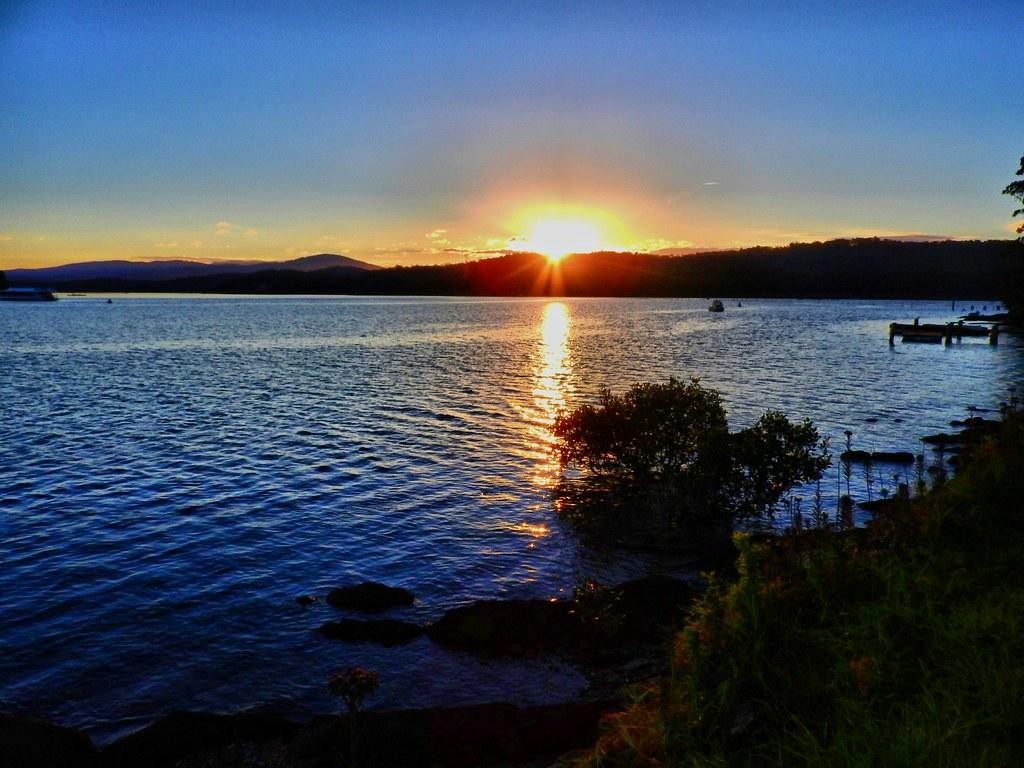 River sunset IV