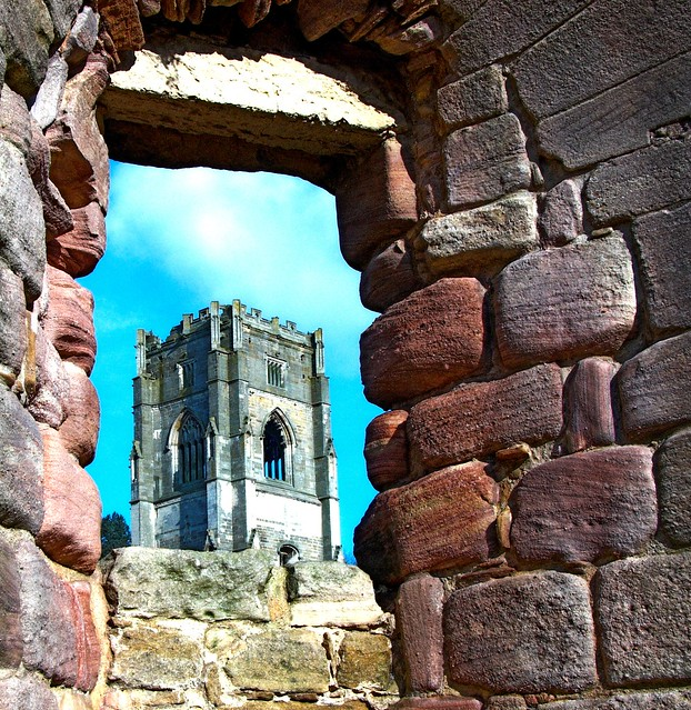 A window to Fountains Abbey