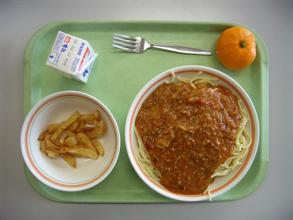 School lunch | I went to the elementary school for PTA's mee