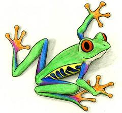Tree Frog Cartoon   by Geek2Nurse