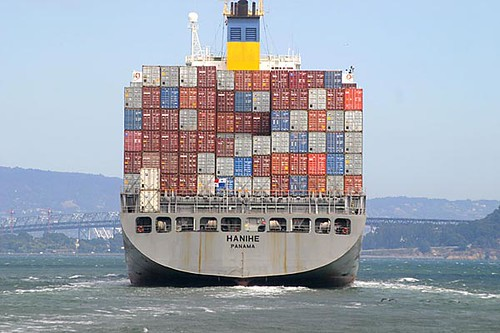 San Francisco Bay cargo ship