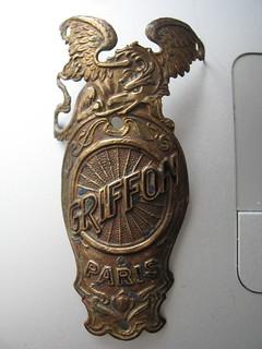 Griffon Bicycle Headbadge from the 1890s   Adam Schwarcz