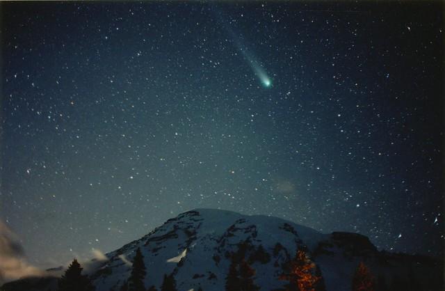 Mt. Rainier / Comet Hyakutake / Paradise #1