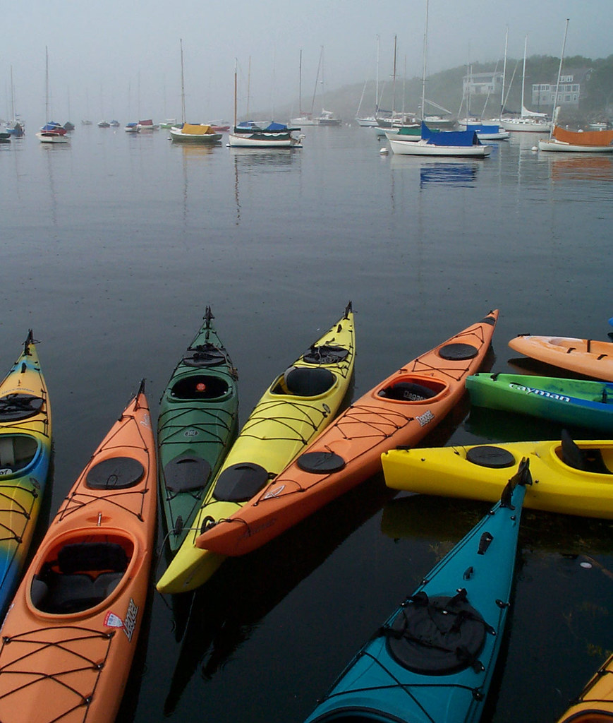 kayaks and boats at Rockport | Where better to rent a kayak