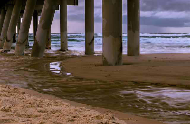 Under the Sand Pumping Jetty - Southport Spit