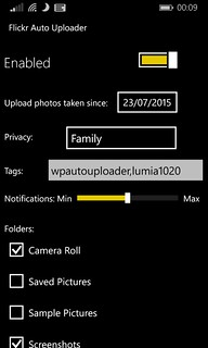Windows Phone Flickr Auto Uploader