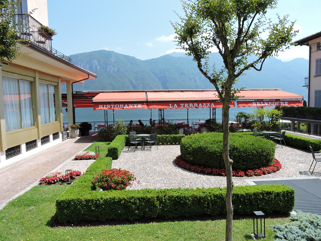 La Terrazza Ristorante At The Hotel Belvedere Lake Como