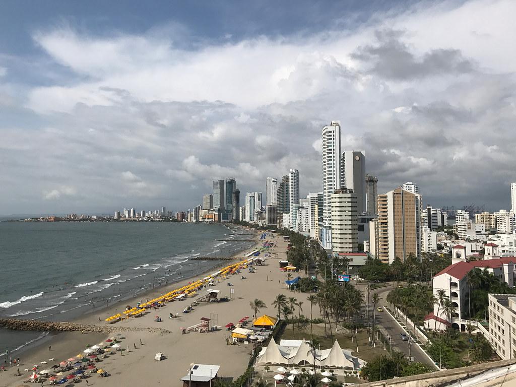 Bocagrande, Cartagena, Colômbia.
