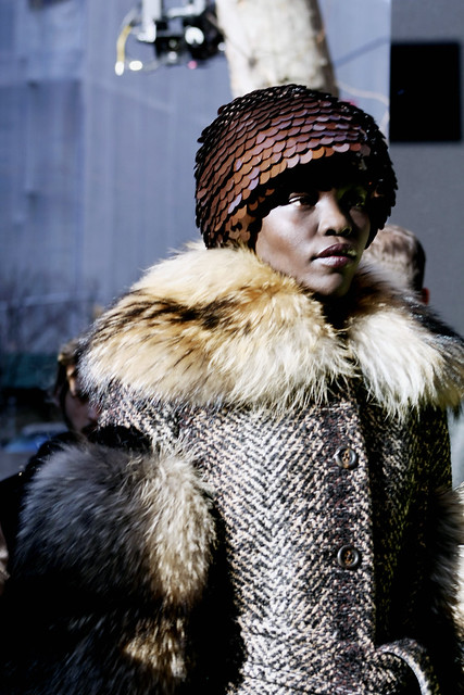Grace Bol model for Marc Jacobs Runway during NYFW FW17