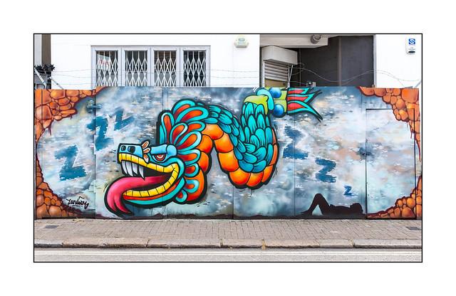 Street Art (Zandism), North London, England.