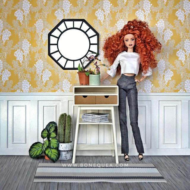 Barbie Ooak & consola de As miniaturas do Tocas