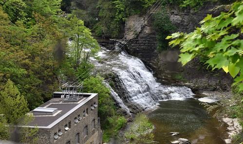 rockyfalls fallcreek waterfalls ithaca newyork usa