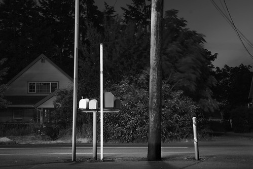 lanecounty night eugene builtlandscape suburbanlandscape blackwhite longexposure oregon monochrome lowlight regionaldistinctions america houses telephonelines pacificnorthwest telephonepoles streets mailbox pnw upperleftusa