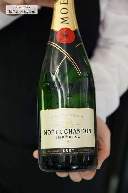 Moët & Chandon Champagne for breakfast