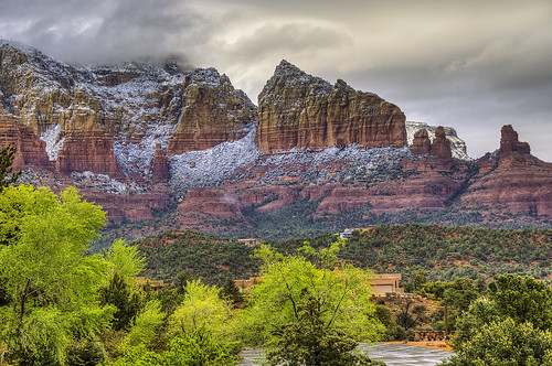arizona sedona snow mountains spring desertsouthwest desert