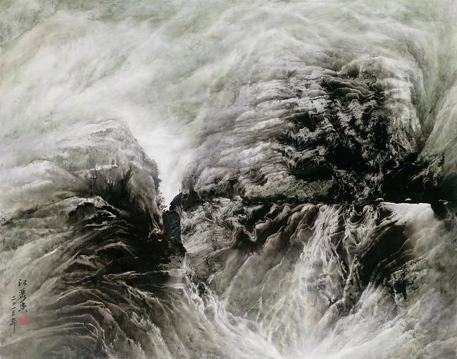 一起賞析畫家江麗香的山水抽象系列創作  資料來源:偷圖劫色網 www.taiwanarts.com.tw  +Line:chip93200 #藝術 #Art
