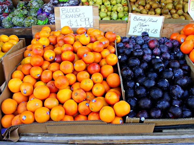 Blood Oranges and Black Plums