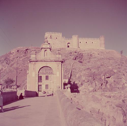 Castillo de san Servando en Toledo en los años 50. Fotografía de Nicolás Muller  © Archivo Regional de la Comunidad de Madrid, fondo fotográfico