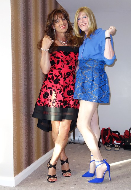 Debi and I ready to go out..