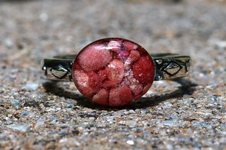 Bermuda Pink Sand Scroll Ring | by slgckgc