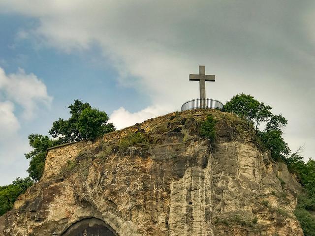 Gellert Hill - Cross above Cave Church