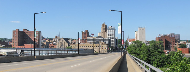 Walking to Youngstown.