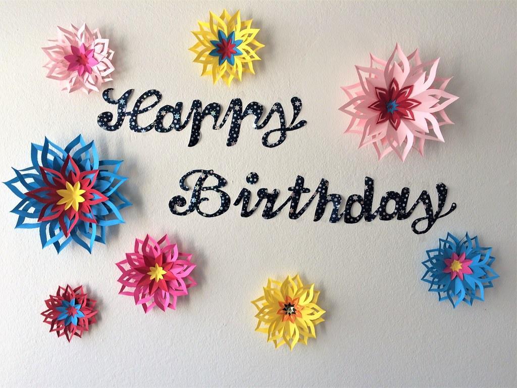 Easy Backdrop Idea For Parties Paper Flower Backdrop Dec Flickr