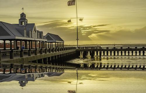sunrise charleston color water waterfront mirror diamondclassphotographer flickrdiamond