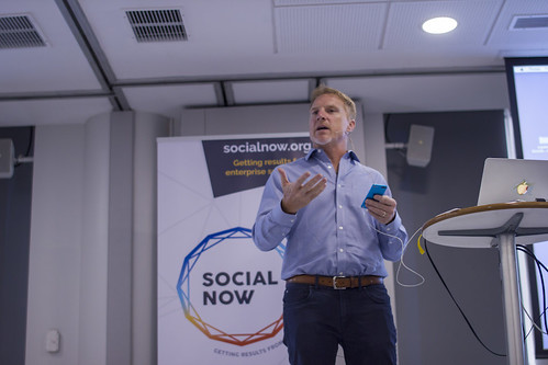 Social Now 2017 - Patrick Allman of MangoApps | by Knowman photos