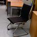 Black and chrome chair