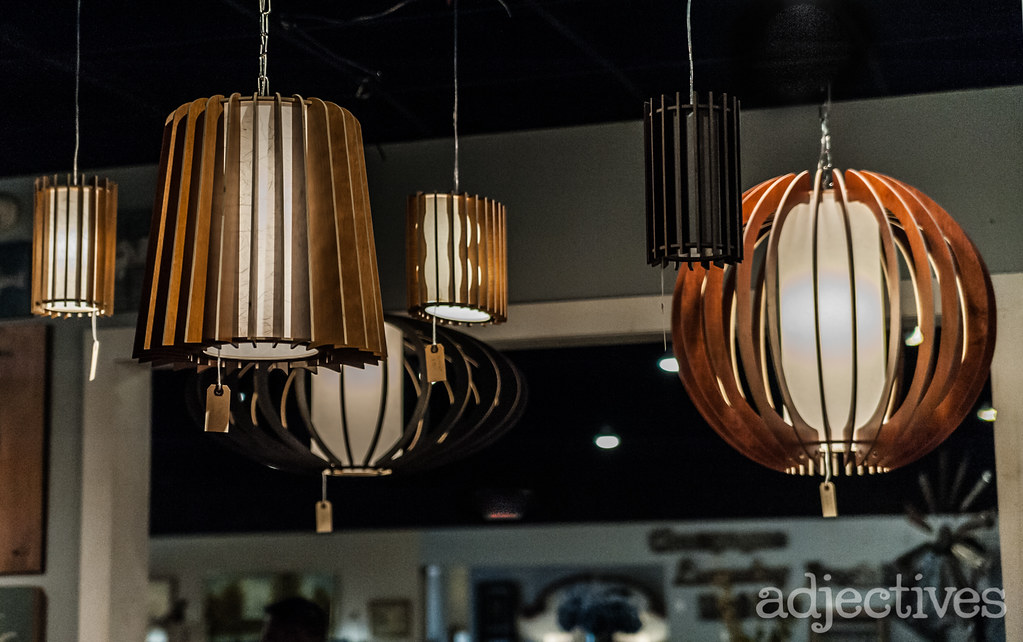 Custom made wood laser cut lamps by Only Cosas Lindas at Adjectives Altamonte