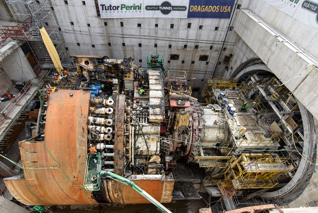 Disassembly reveals the inner workings of the SR 99 tunneling machine