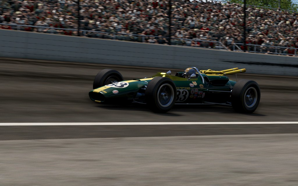 Lotus Type 38 at Indy 500 pt2