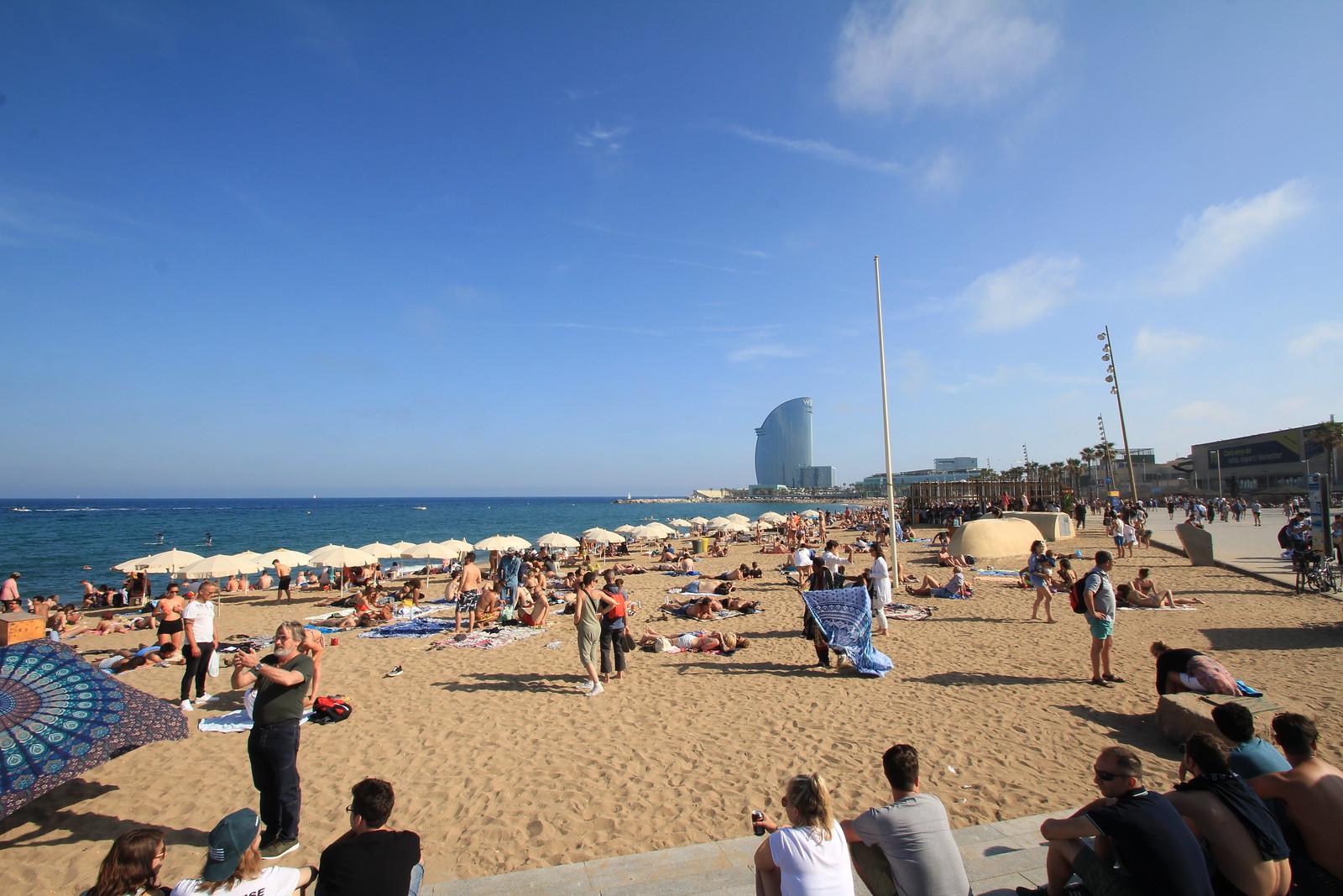 Barcelone, la plage