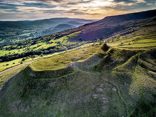mountain wales landscape sunset drone