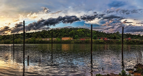 ultravividimaging ultra vivid imaging ultravivid colorful canon canon5dmk2 clouds sunsetclouds stormclouds sunset spring evening vista scenic pennsylvania pa panoramic river reflections rainyday