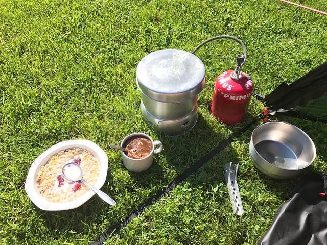 Breakfast in the sun