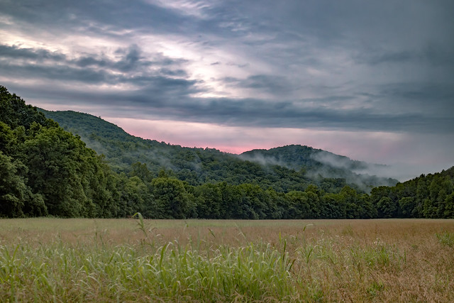 Sunset, Fog, Big Bottom, White County, Tennessee 1
