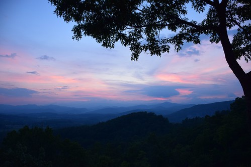 sunset nature landscape blueridge mountains travel outdoors scenic