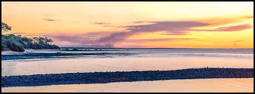 sunset fires herveybay queensland canon5dmk4 canon100400mmmk2 lens panoramic image art gatakersbay mangroves
