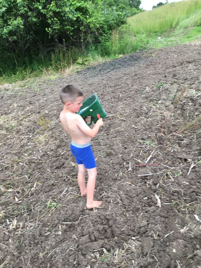 Farmer Trapp Nugent got seed in the ground a few days back!   He's ready for hunting season.