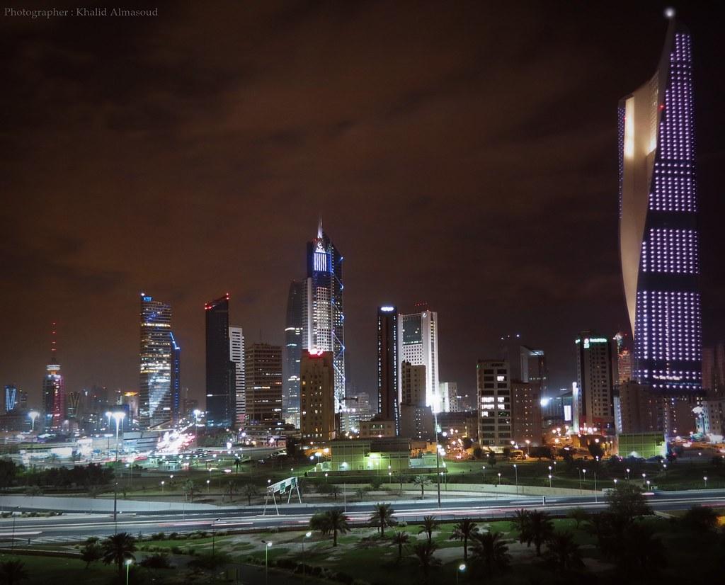 Kuwait city | The heart of capital at glaring night