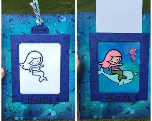 """Mermaid """"Thanks"""" Slider Card"""
